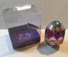Christopher Radko Romanov Splendor Egg Candy Trinket Box Christmas Decoration  | eBay