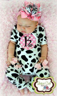 OMG!!! So CUTE!!!!!!  Cow Print Onesie. Kinsleigh needs this @Tammy Tarng Tarng Tarng Wilson Gomez
