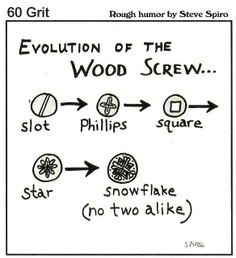 Evolution of the Wood Screw