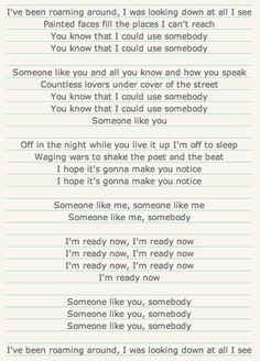 Use Somebody - KOL (lyrics)