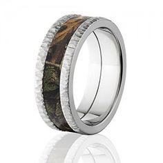 Camo Rings RealTree Xtra, Premium Treebark Finish, Camouflage Bands