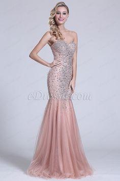 Ärmellos Süß Herz Perlen Prom Kleid (C36151146)