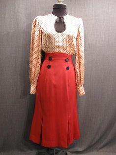 1930s Dresses | 1930's/Women's Wear/1930's Women's Dresses/09034904 Dress Womens 1930s ...