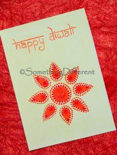 Diwali Greeting Card Diwali Cards, Diwali Greeting Cards, Diwali Diya, Diwali Greetings, Greeting Cards Handmade, Diwali Festival, Happy Diwali, Stencils, Projects To Try