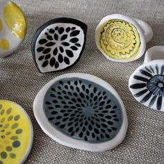 embellished porcelain rings , Abby Seymour http://abbyseymour.com/collaborative-pieces- #crafts #jewelry #art
