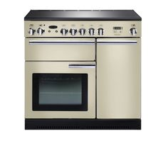 Buy RANGEMASTER Professional+ 90 Electric Ceramic Range Cooker - Cream & Chrome   Free Delivery   Currys