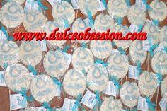 Baberos de chocolate con tarjetita, para recuerdos  de baby shower