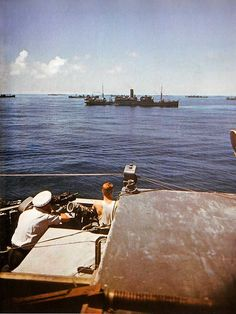 British convoy navigating on the Atlantic
