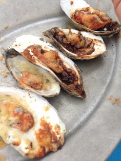 Bourbon butter oysters- Hog Island Oyster Company, Tomales California