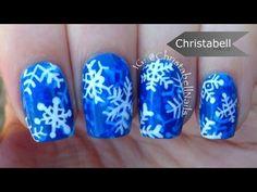 Layered Snowflake Nails for the Holidays - Winter Nail Art - YouTube