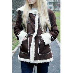 SHARE & Get it FREE | Hooded Faux Shearling  CoatFor Fashion Lovers only:80,000+ Items • FREE SHIPPING Join Nastydress: Get YOUR $50 NOW!