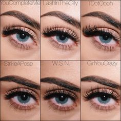 """9448c8efb34 V E L O U R on Instagram: """"A little lash goes a long way! The top row are  all FLARED lashes from low to high volume. These babies are great for  people with ..."""