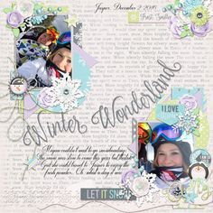Page by Atusia using Freezing by Oh La La and Miss Mel templates