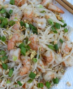 Shrimp Pad Thai {Gluten Free and Diabetic Friendly}