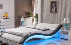 Marilia Bed with Led Light Leather Beds - Eshop - Cyprus Furniture, Online Furniture, Έπιπλα Κύπρος, eShop Cyprus