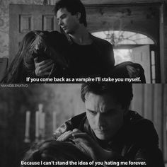 [2x21] Raise you hand if you miss Delena #thevampirediaries  Yes miss them so much!!