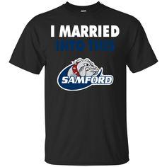 Samford Bulldogs T shirts I Married Into This Hoodies Sweatshirts