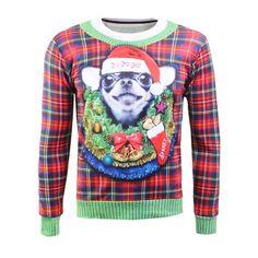 16.82$  Watch here - http://dilgc.justgood.pw/go.php?t=205075301 - Plaid Crew Neck Christmas Sweatshirt 16.82$