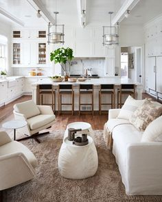 Outrageous Open Concept Kitchen Living Room Layout Tips - homeknicknack Living Room Kitchen, Home Decor Kitchen, Home Kitchens, Kitchen Ideas, Kitchen Interior, Kitchen Country, Living Room White, Apartment Kitchen, Rustic Kitchen