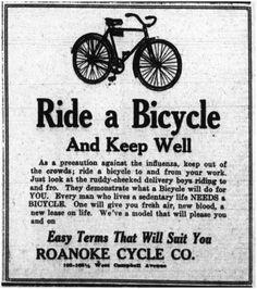 pubblicità inglese a favore della bici
