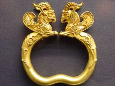 Sumerian Artifact. A gold bangle possible worn by a royal princess.(British Museum)