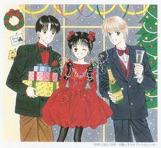 El primer triángulo amoroso de Marmalade Boy (de Wataru Yoshizumi): Ginta, Miki y Yuu.
