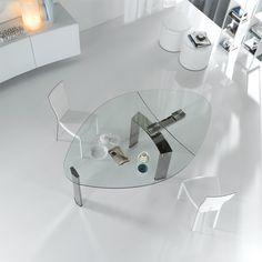 Wszystko jasne!  #clear #glasstable #modern #design #internoitaliano