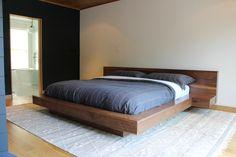 Solid Walnut Platform Bed