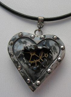Broken Heart Steampunk Jewelry