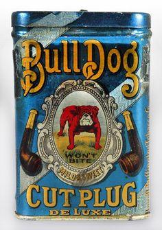 Bulldog Cut Plug Pocket Tobacco Tin