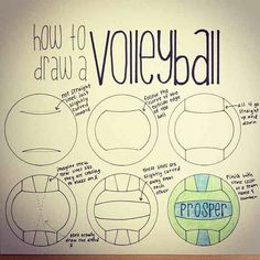 Patterns Using a Soccer Ball! How to Draw a Volleyball because even though I play the sport I cant draw a good one for my life!How to Draw a Volleyball because even though I play the sport I cant draw a good one for my life! Beach Volleyball, Volleyball Crafts, Volleyball Party, Volleyball Memes, Coaching Volleyball, Girls Basketball, Girls Softball, Softball Players, Volleyball Outfits