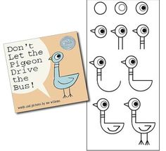 Do a Directed Drawing with your students and teach them to draw the pigeon. They will be SOOO proud of themselves. :)