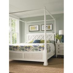 Tommy Bahama Home Ivory Key Panel Bed & Reviews | Wayfair