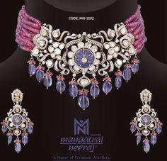 Diamond Pendant, Diamond Jewelry, Beaded Jewelry, Fine Jewelry, Neck Piece, Pendant Design, Necklace Designs, Jewelery, Chokers