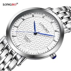 LONGBO New Fashion Watch Men Simple Elegant Casual Business Quartz Wristwatch Male Luxury Stainless Steel Clock Relogio Feminino