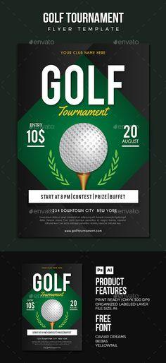 Golf Flyer  — PSD Template