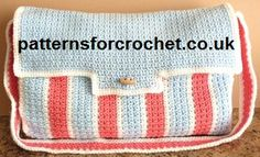 Free crochet pattern for nappy/diaper bag from http://www.patternsforcrochet.co.uk/diaper-bag-usa.html #crochet #patternsforcrochet #freecrochetpatterns