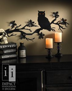 Halloween Wall Art- 3D Bat Wall Art- Our flock of 3D bats create fun movement on your wall for your Halloween Party #HalloweenDecor #HalloweenParty…