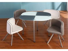Essgruppe Unity - 1 Tisch & 4 Stühle - Grau günstig kaufen I Möbel Online-Shop Kauf-Unique.de