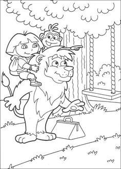 Dora the Explorer Coloriage plus jeune 2 Pinterest
