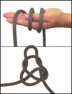 Wireman's knot. At least 25 different knots. Learn to tie knots.