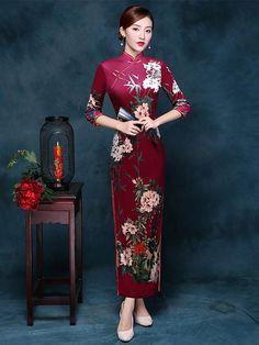 #Chinese clothing# #Chinese dress# #Cheongsam# #Qipao# (www.goodorient.com) Chinese Dress Cheongsam, Chinese Gown, Cheongsam Wedding, Chinese Dresses, Traditional Dresses, Chinese Dress Traditional, Oriental Dress, Asian Fashion, Chinese Fashion
