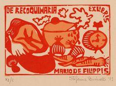 Art-exlibris.net - ex libris di Stefania Businelli per Mario de Filippis