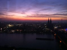 Looking out over Cologne, trip up 'the cologne triangle' facing the main part of the city, only €3 and so so worth it! The view is incredible and doesn't it just look like a painting?