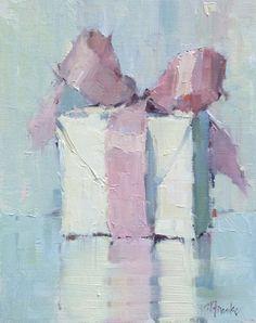 """Nancy Franke, """"Beautiful Arrival,"""" oil on linen board, 14"""" x 11"""""""