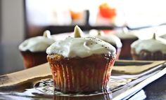 Whole Wheat Carrot Cupcakes with Cream Cheese Frosting