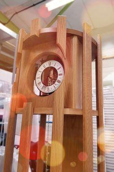 Teme Valley Clocks: contemporary Grandfather clocks, made in Shropshire, UK #clocks #modernclock #UNIQUEDESIGN Contemporary Clocks, Modern Clock, Skeleton Clock, Grandfather Clocks, Wall Clocks, Wood Watch, Design, Wooden Clock, Chiming Wall Clocks