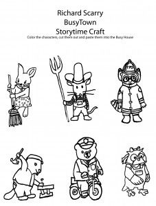 richard scarry halloween coloring pages - photo#9