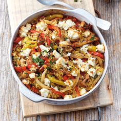Gyros casserole with sheep cheese recipe WW Germany - Now cook gyro bake with feta cheese in 30 and discover numerous other Weight Watchers recipes. Plats Weight Watchers, Weight Watchers Meals, Lunch Recipes, Vegetarian Recipes, Healthy Recipes, Sheep Cheese, Queso Feta, Evening Meals, Eating Plans