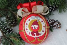 Christmas Handmade Hanging Ornaments, Handcrafted Baubles with Gingerbread Ball Gingerbread Christmas Tree, Gingerbread Ornaments, Christmas Balls, Red Christmas, Christmas Tree Decorations, Xmas, Christmas Ornaments, Holiday Decor, Handmade Ornaments